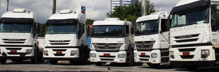Imagem dos transportes rodoviário da transportadora Di Pardo